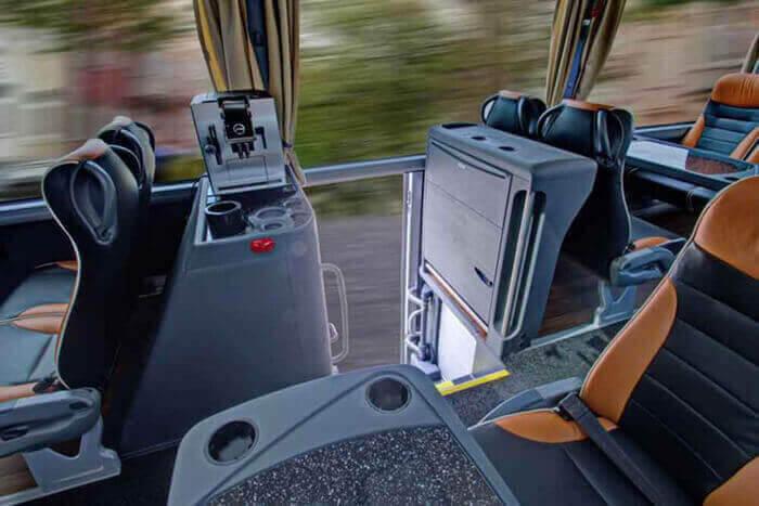 Interjeras ir komfortas autobuse